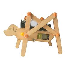 Sztuki i rzemiosła dla dzieci rzemiosło zabawki dla dzieci zabawki przedszkole dla dzieci Model rzeczy drewniane maluch Diy czworonożnych Robot pies zabawki dla chłopca tanie tanio HBRCAR27 Chiny certyfikat (3C) away from fire Zwierzęta i Natura 5 ~ 7 Lat 8 ~ 13 Lat 14 Lat i up Dorośli Vilead 11 5*8 5*7 5cm