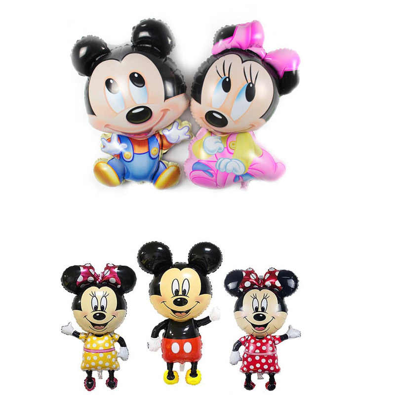 Mickey Minnie Theme Gold Foil Balloons Boy Girl Baby Shower Decorations Party Supplies Gender Reveal Home Decoration