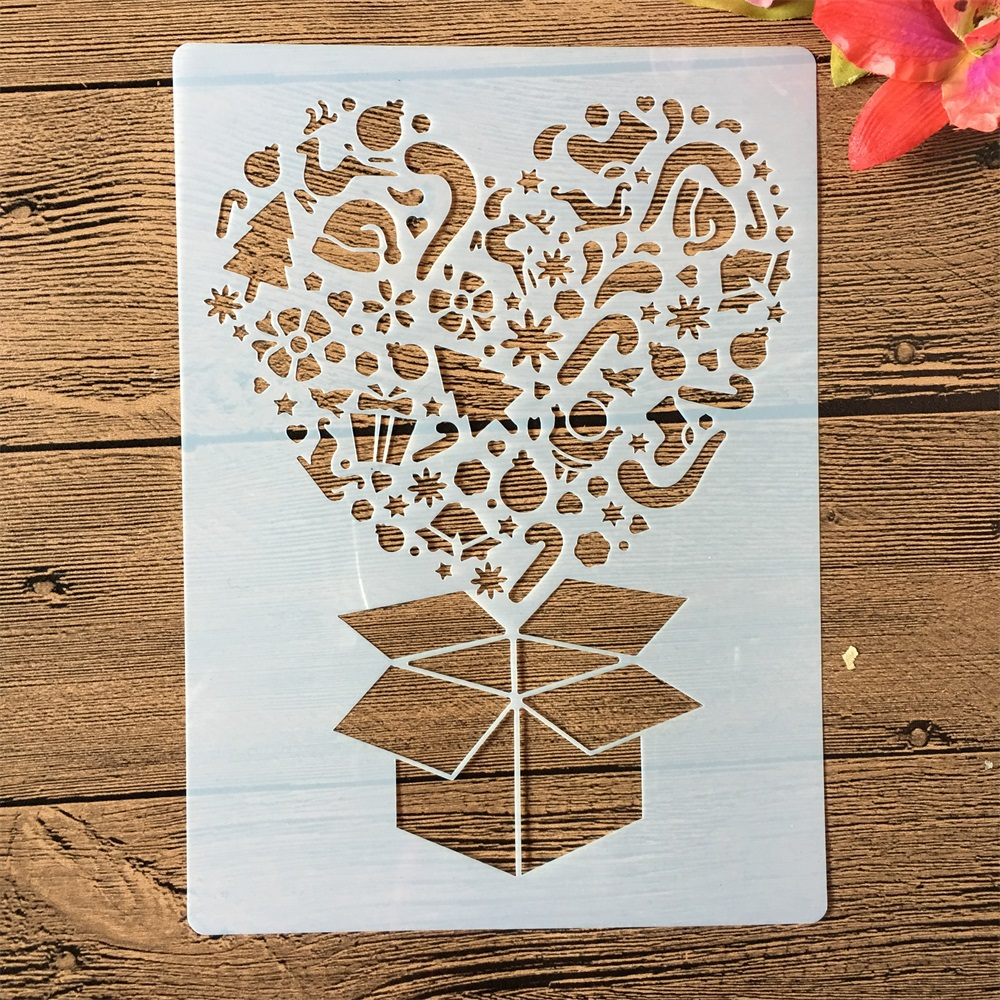 22*12cm Gift Box Open DIY Craft Layering Stencils Painting Scrapbooking Stamping Embossing Album Paper Card Template