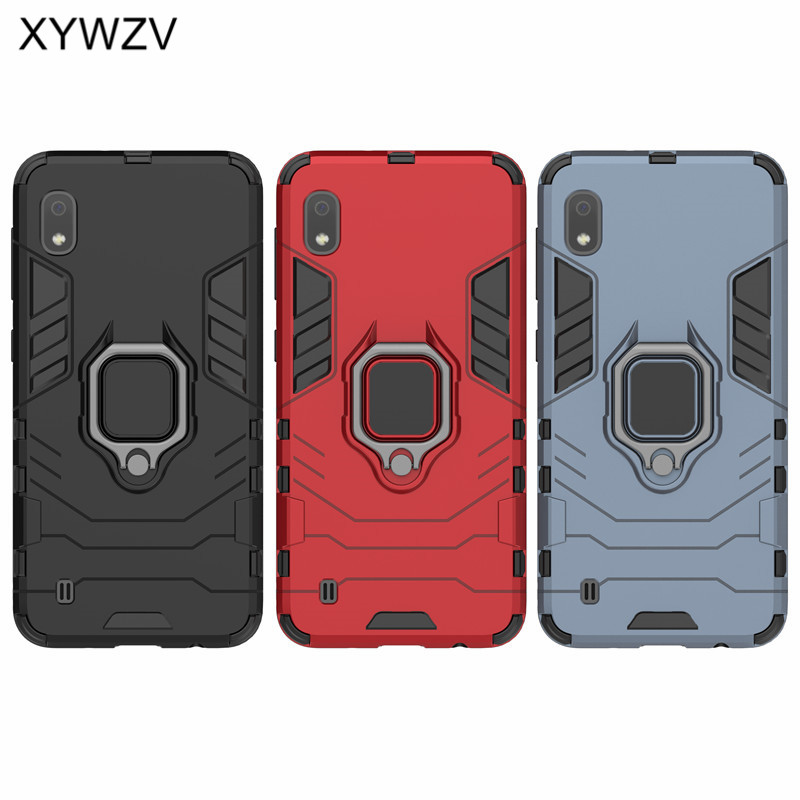 Image 5 - For Samsung Galaxy A10 Case Shockproof Armor Metal Finger Ring Holder Phone Case For Samsung Galaxy A10 Cover For Samsung A10-in Fitted Cases from Cellphones & Telecommunications