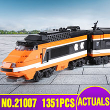Lepin 21007 Technic Series The Horizon Express Model 10233 Horizon Train Educational Building Blocks Bricks Toys Christmas Gift