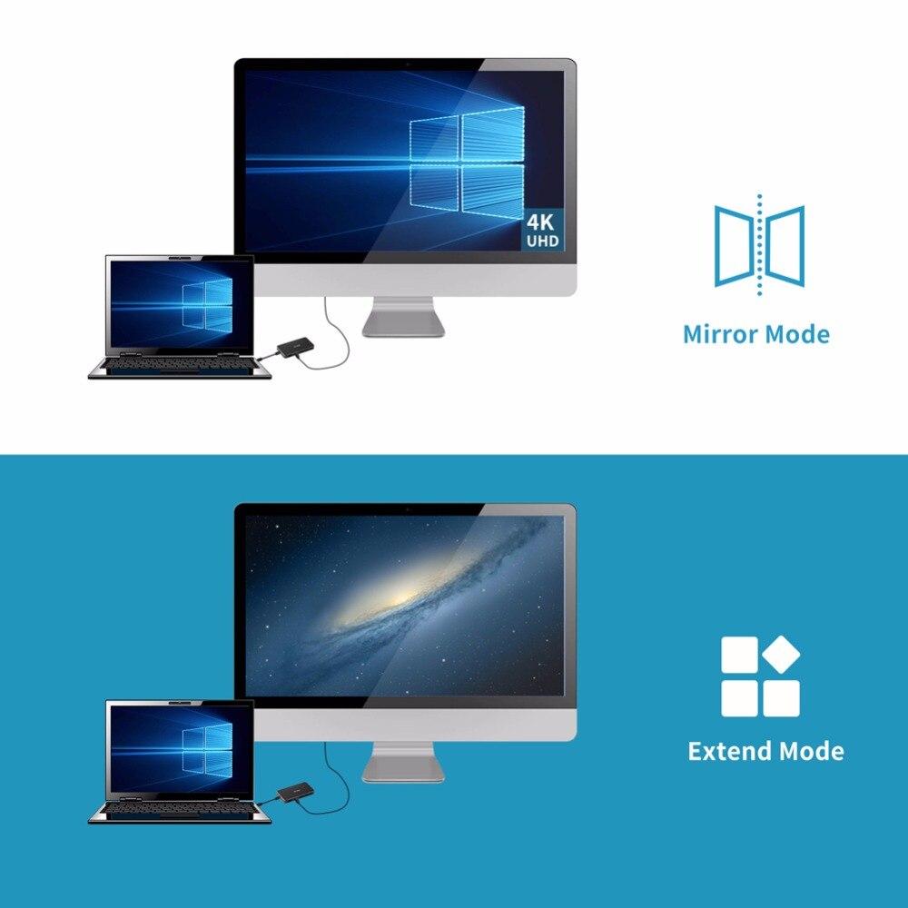 USB Type C thunderbolt 3 adapter displayport 1 2 VGA To HDMI Splitter  Type-C to USB 3 0 HUB DP Converter With PD display Port