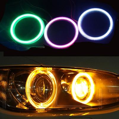 2x80 мм УДАРА Ангел глаз светодиодные Чип Car Light Супер Яркость Водонепроницаемый фар авто туман автомобилей Светодиодное освещение