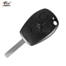 DANDKEY Black Uncut Blade Remote Control Key 3 Buttons 433MHz For Renault /Kangoo II /Clio III(China)