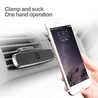 BASEUS двойной зажим автомобильное крепление Air Vent Mount мобильный телефон держатель для iPhone 7 Samsung S8 Магнитная магнит автомобильный держатель те...