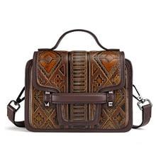 2017 Genuine Leather Women Handbags Fashion Design Elegant Shoulder Bags Floral Print Female Casual Tote Bag