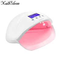 50w LED UV Nail Lamp Pro Nail Dryer Auto Sensor Smart Pedicure Manicure Machine For All Gels Polish Dryer light with LCD Display