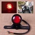 Motorcycle LED Retro Red Rear Tail Brake Stop Light Lamp With License Plate Mount for Honda Suzuki KTM ATV Harley Chopper Bobber