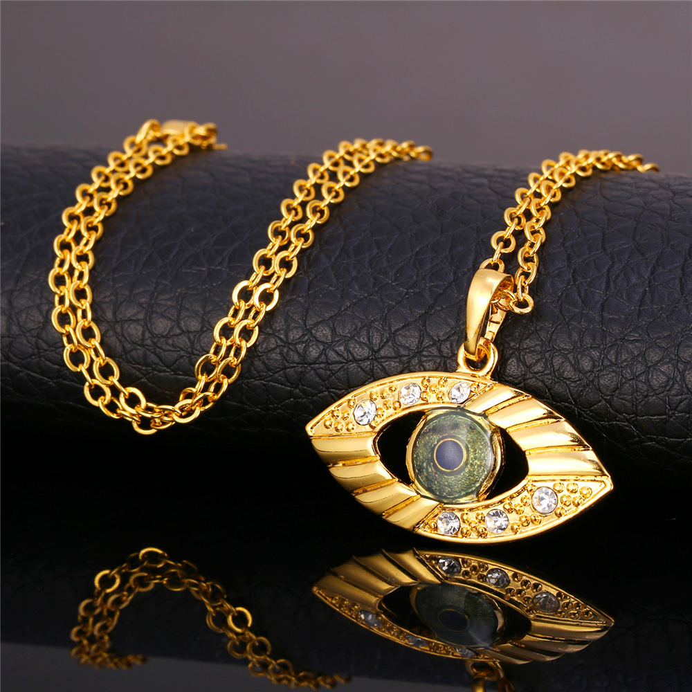 U7 Turkish Jewelry Sets For Women Gold Color Fashion Jewelry