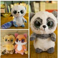 Large 40CM Kawaii TY Beanie Boos Big Eyes Monkey Panda Cat Raccoon Penguin Squirrel Plush Stuffed Animals Toy Doll For Kids Gift