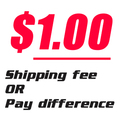 Shipping fee / Pay difference link