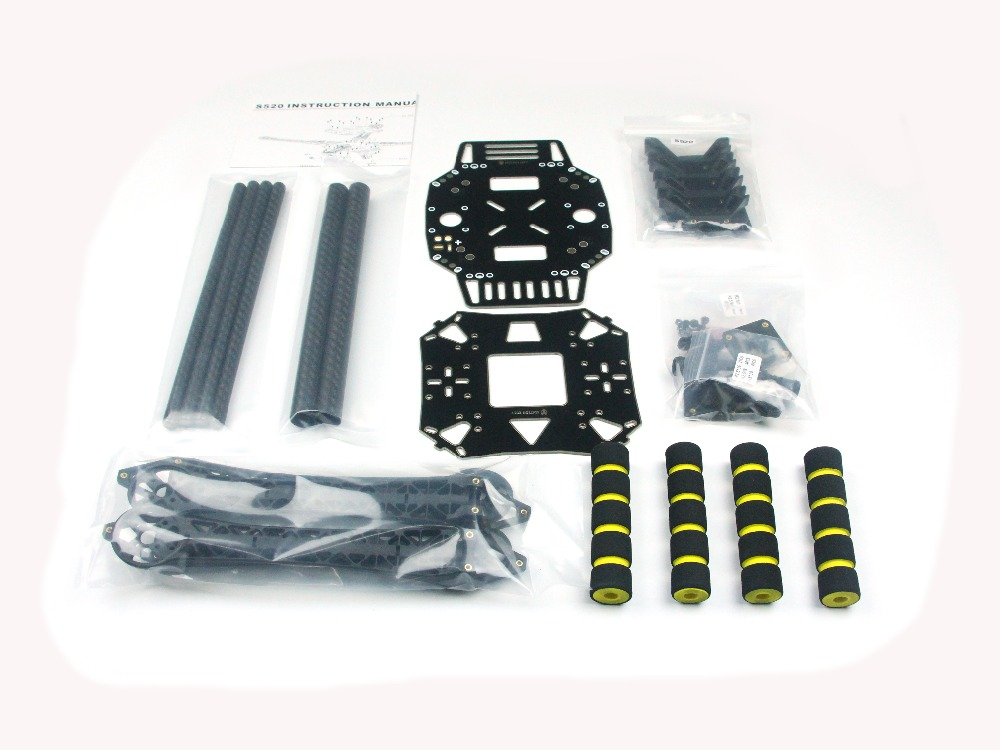 JMT S520 S600 Super Hard Arm 4-Axis Rack Quadcopter Frame Kit with Landing Gear Skid F450 Frame Upgraded for FPV Drone F19456