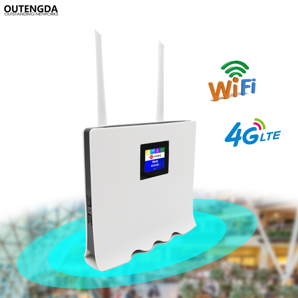 4G WiFi Router 300Mbps Wireless Wi-Fi Mobile LTE/3G/4G Unlocked CPE Router with SIM Slot 4LAN Ports Support Multi Bands 32 Users 300mbps unlocked 4g lte cpe wireless router support sim card 4pcs antenna with lan port support up to 32 wifi users wps function