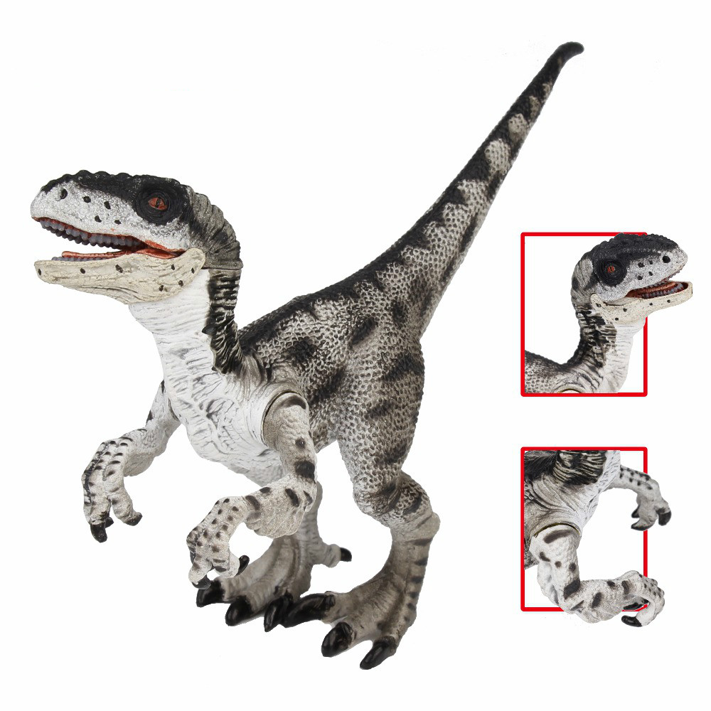 LAMWIN Jurassic World Park Velociraptor Dinosaur Action & Toy Figures Animal Collectional Model Learn Education Gift