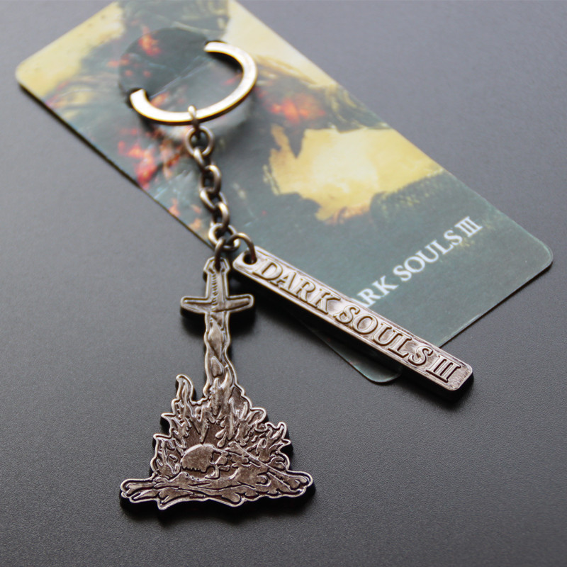 Dark Souls 3 PS4 Metal Game Pendant Figure Hot Toy Limited Collection Promotional Keychain Birthday Gift Toys For Kids