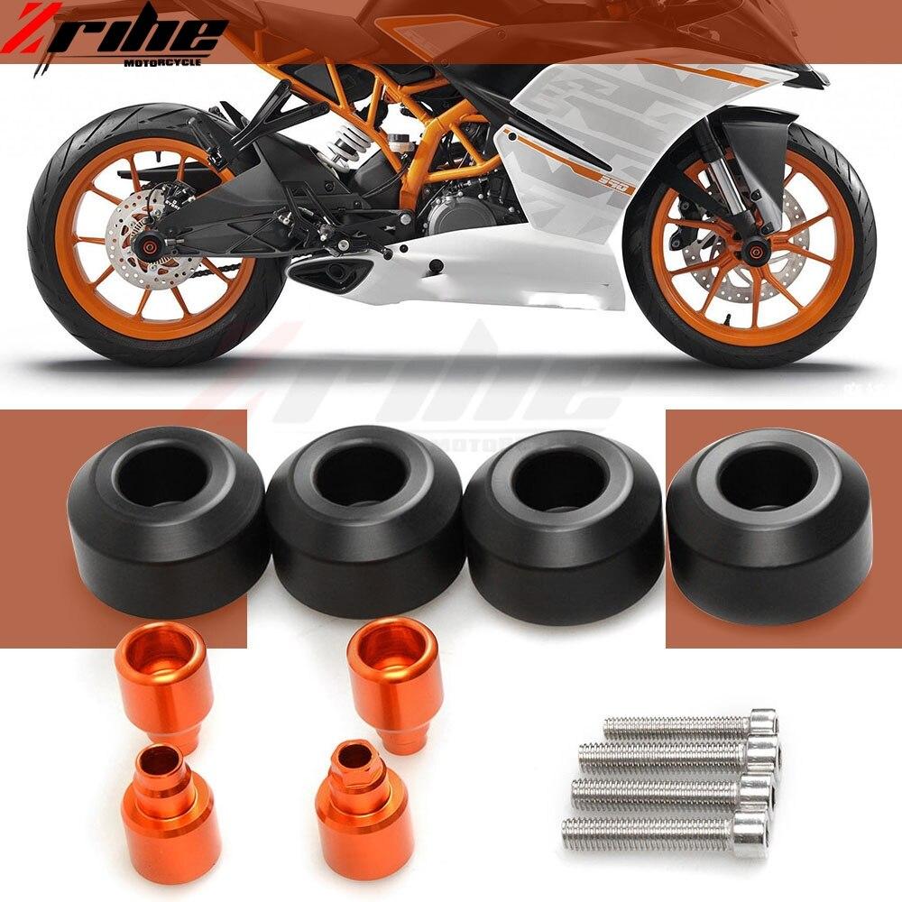 Motorcycle CNC Aluminum front/rear Wheel Frame Slider Crash bike Protection For KTM DUKE 690 SM 690SM 690 S M 2007-2008