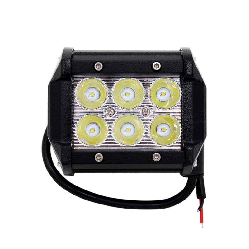 2Pcs/Lot 4 inch 18W LED Offroad Driving Work Spot Light Bar Car Styling Truck Boat UTE Car LED Lamp Car LED Bulbs Parking 6000K
