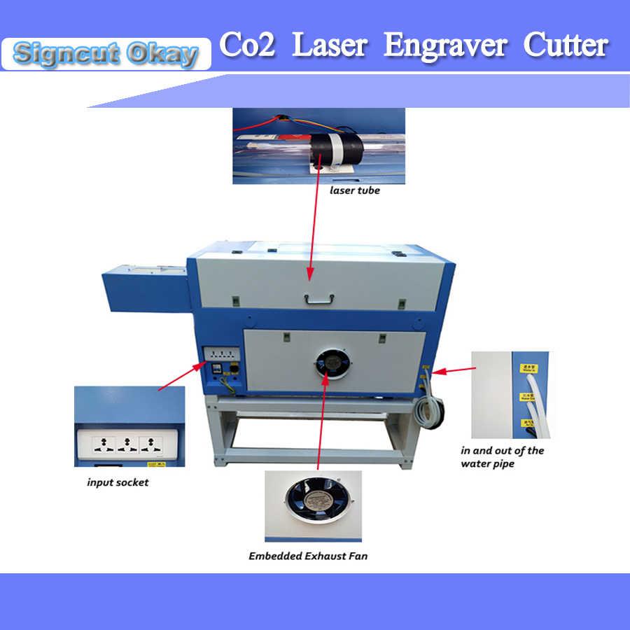 50 W CO2 לייזר חריטה ומכונת חיתוך עם Coreldraw תמיכת שולחן חלת דבש לייזר CNC קאטר הקושר משלוח חינם