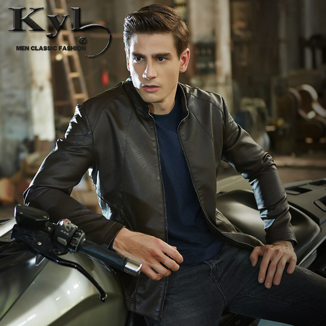 2016 Mens Leather Jackets And Coats Motor PP Jacket Genuine Jacket Men Autumn and Winter Leather Clothing 601