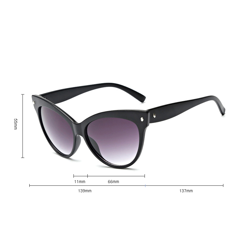 iboode 2019 New Fashion Cute Sexy Ladies Cat Eye Sunglasses Women Vintage Brand Oversized Shades Oculos De Sol UV400 4 Colors in Women 39 s Sunglasses from Apparel Accessories