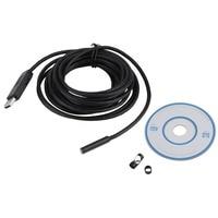 Camera Waterproof 5m Mini USB Endoscope Inspection Camera 6 White LEDs 1 9 CMOS 7mm Lens