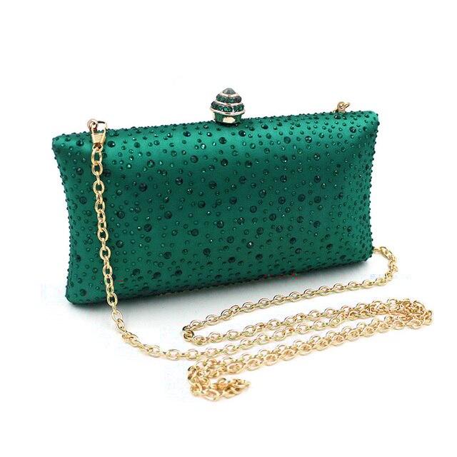 625318ad83 New Design Evening Bag Crystal Luxury Clutch Bag Green Diamond Ladies  Handbags Party Purse Wedding Bag