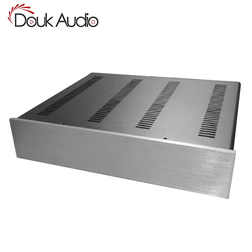 Douk Audio Hi-End Preamplifier Chassis Power Amp Enclosure DAC Cabinet Headphone Amp Case nobsound hi end audio noise power filter ac line conditioner power purifier universal sockets full aluminum chassis