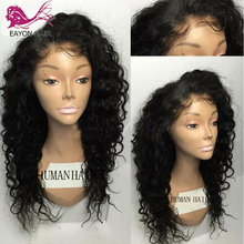 EAYON HAIR Human Hair Full Lace Wigs Pre Plucked Natural Hairline With Baby Curly Brazilian Remy Bleached Knot