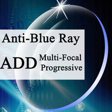 Personalizado um par de lente óptica progressivo multi foco & anti azul luz miopia presbiopia resistente a riscos 1.56 1.61 1.67 índice