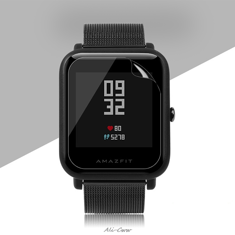 2PCS TPU Screen Protector For Xiaomi Huami <font><b>Amazfit</b></font> Bip BIT PACE Lite Smart Watch Screen Protector <font><b>Film</b></font> image