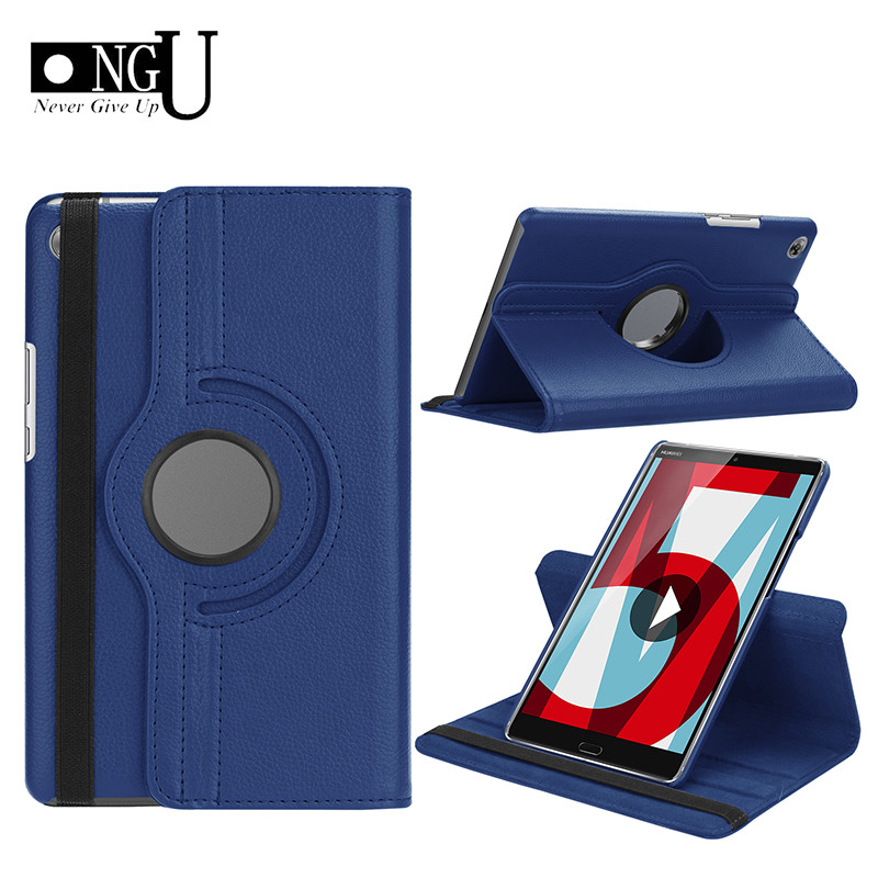 PU Leather Case For Huawei Mediapad M5 Lite 8.0 JDN2-W09 / AL00 Rotating Stand Tablet Cover For Huawei Mediapad M5 8 Inch Case