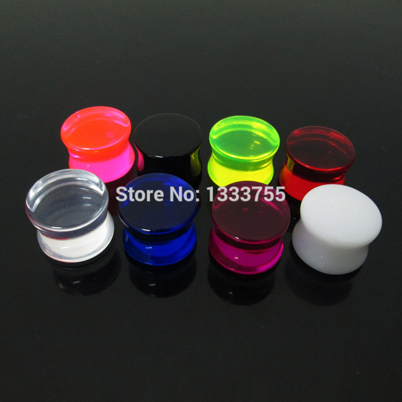 Nueva llegada piercing body jewelry 1 Set = 6pcs medidores mixtos clear ear expander saddle acrílico ear plug envío gratis