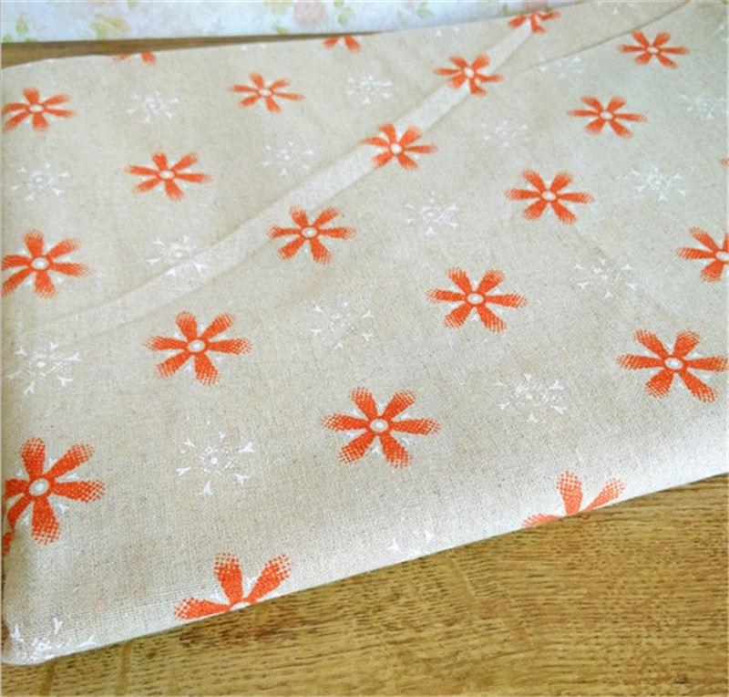 <font><b>150</b></font> cm X <font><b>50</b></font> cm Christmas snowflakes printed linen fabric for tablecloth curtains background fabrics image