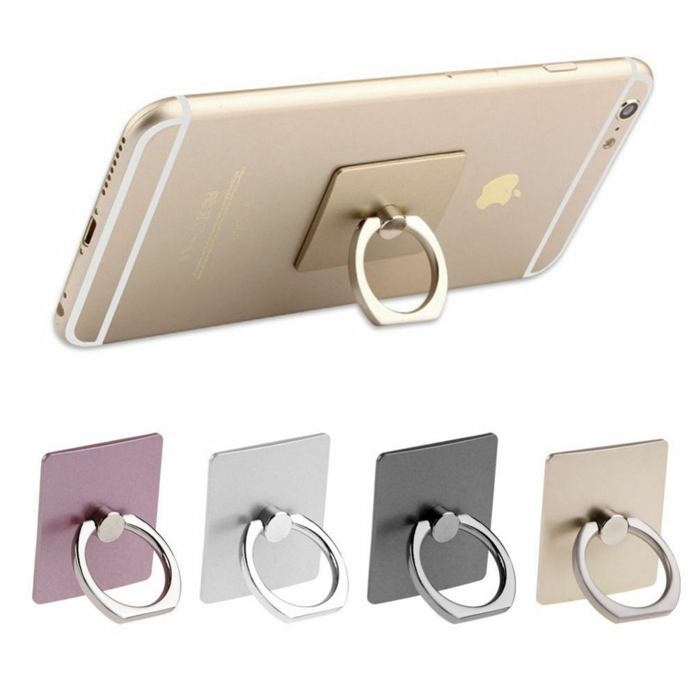 Square Mobile Phone Tablet Universal 360 Rotating Finger Ring Stand Holder Socket For IPhone X XR XS Max 8 7 6 6S Plus 5S
