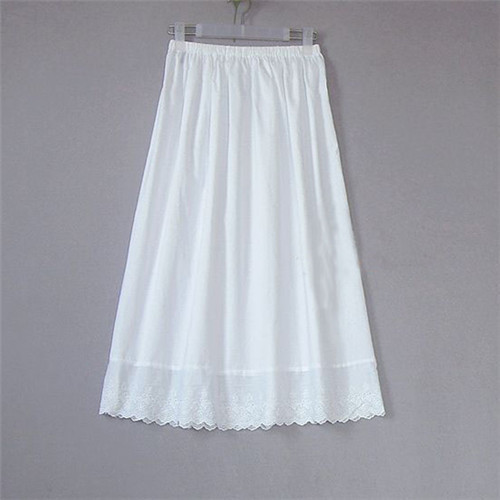 Cotton Embroidered Half Slip