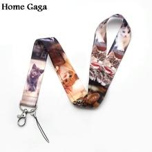 Neck-Lanyards Usb-Badge-Holder Cat-Tags-Strap Hang-Rope Homegaga for Keys Id-Card Pass