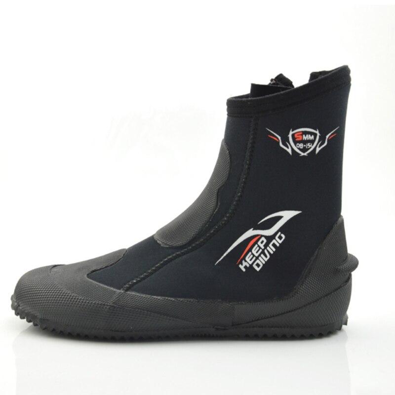 Super venta-mantener el buceo 5mm neopreno buceo botas zapatos de agua Vulcanize invierno frío a prueba de altas aletas cálidas spearfisi