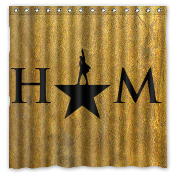 180x180cm New Arrival Waterproof Fabric Hamilton Broadway Musical Design Bathroom Shower Curtain Polyester Bath