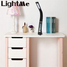 2016 New Hot Selling 5W 200LM Electronic VA Screen 3 Level Dimmable LED Table Lamp with Calendar Temperature Alarm Clock