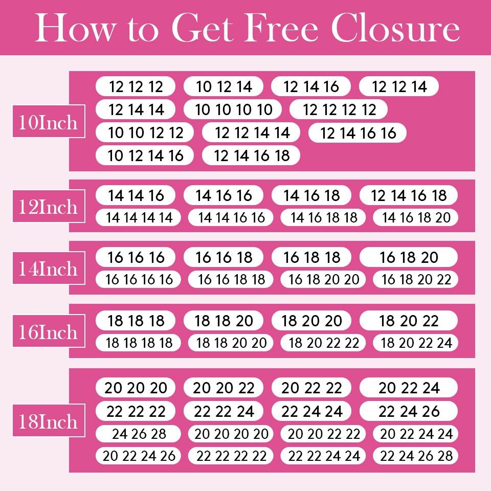 buy bundles send free closure-960