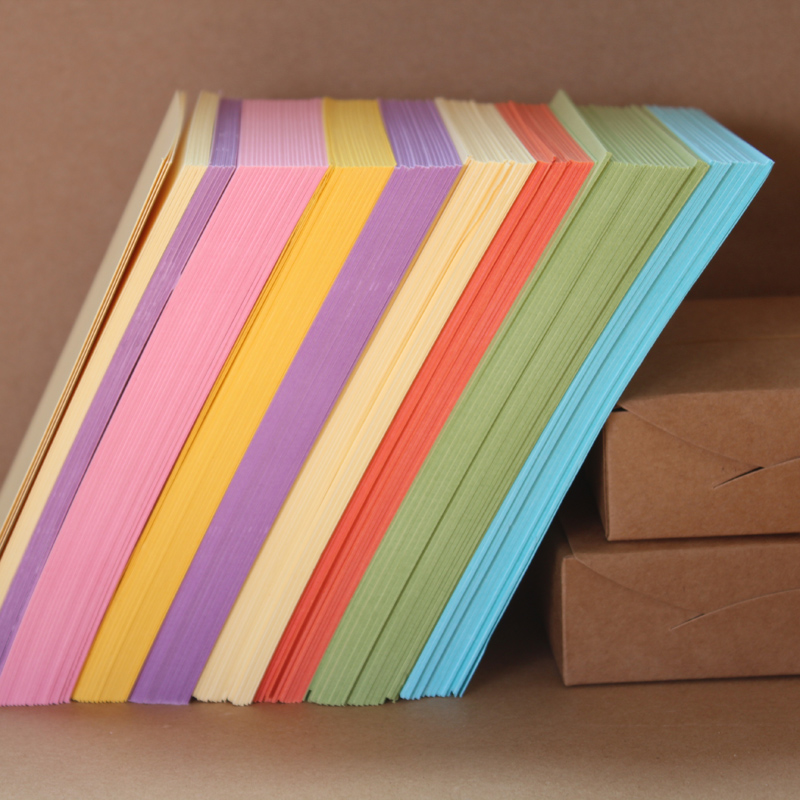 10pcs set creative diy blank color paper postcards note for Diy colored paper