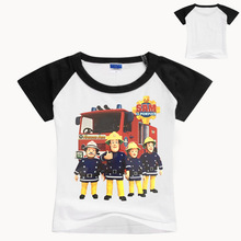 2019 New Summer Baby Boys Clothing Fireman Sam Shirt Short Sleeve Tshirt Shirts Children T Kids Fashion Top