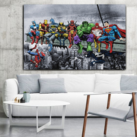 Superheroes Marvel DC United Canvas Poster 1