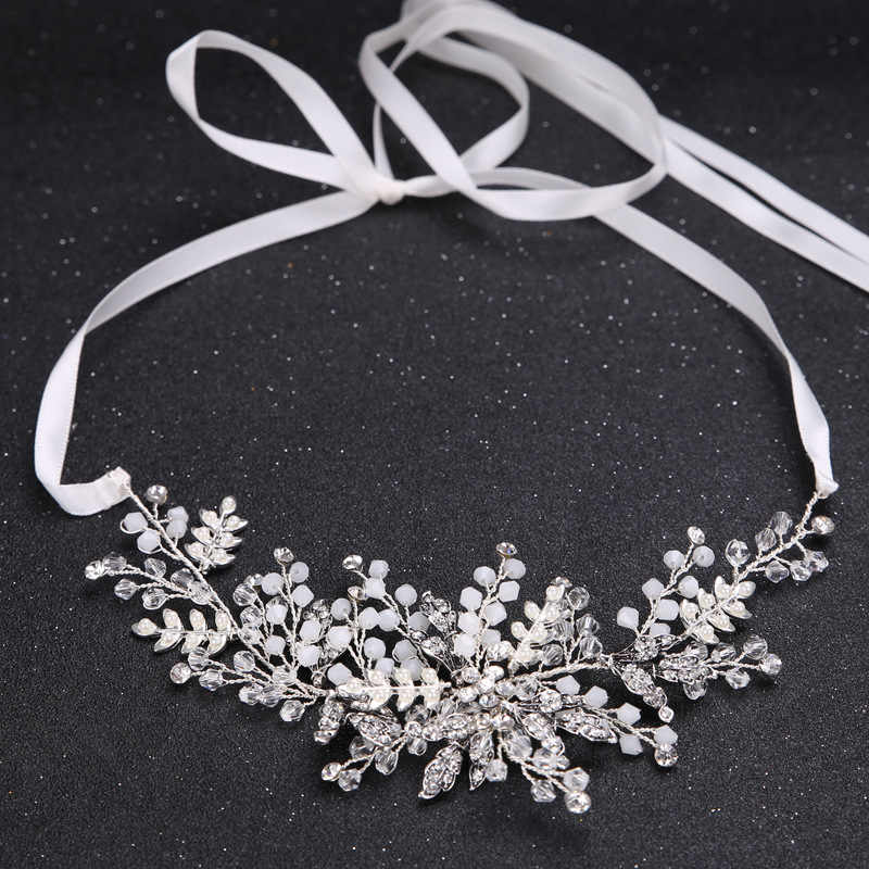 Leaf Bridal hair accessories Wedding Headpiece Hair jewelry crown bride headband rhinestone hair ornament Crystal hairpiece