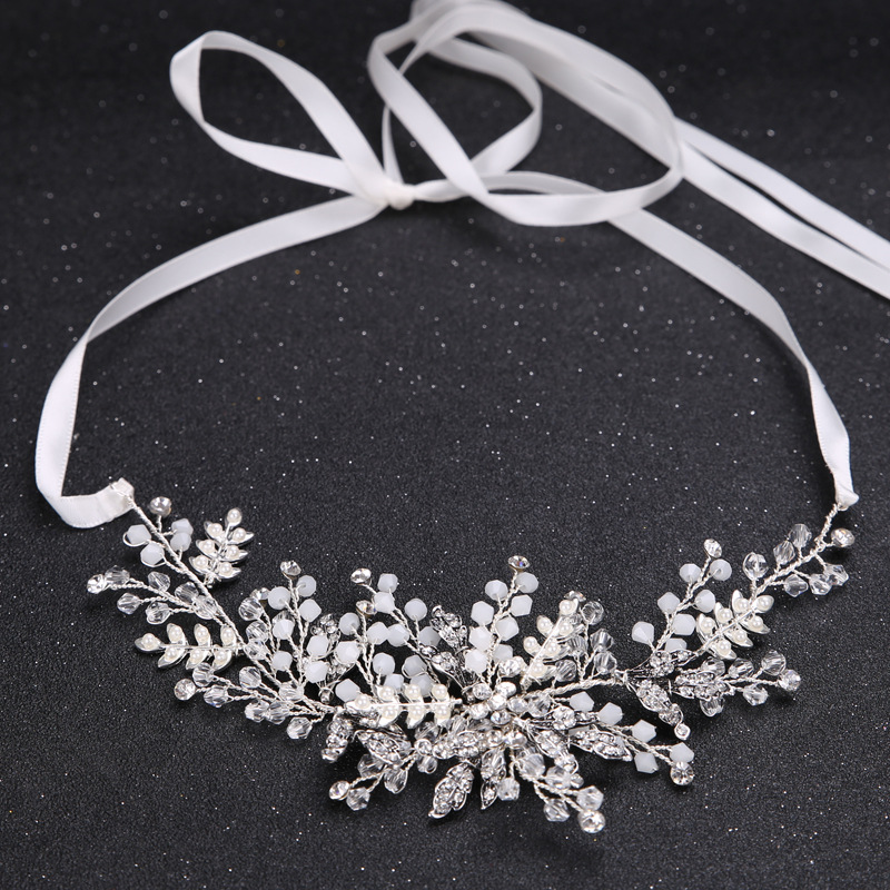 Leaf Bridal hair accessories Wedding Headpiece Hair jewelry crown bride headband rhinestone hair ornament Crystal hairpiece