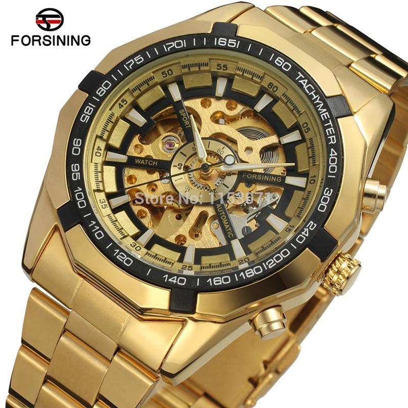 Prix pour Forsining automatique montres hommes marque de luxe tourbillon montre mécanique montre-bracelet en acier inoxydable hodinky relogio masculino