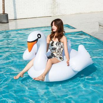Inflatable Flamingo Swimming float Pool Float Pink Ride-On Swimming Ring Adults Children Water Holiday Party Toys Piscina 150CM 5