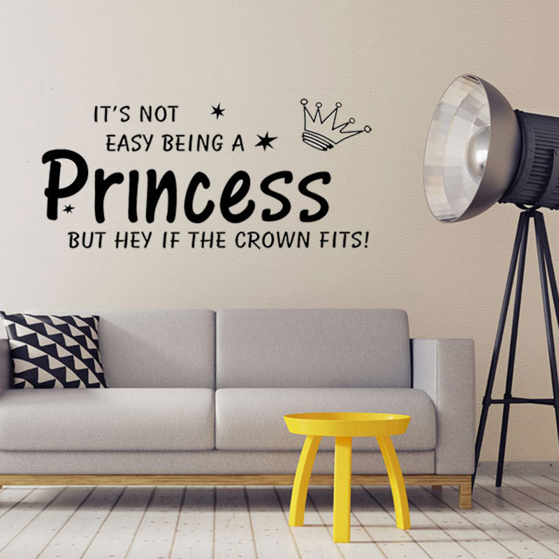 It S Not Easy Being A Princess Wall Art Decor Little Home Decoration High Quality Vinyl Sticker Decal In Stickers From Garden