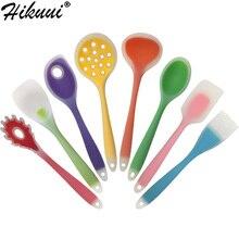 Розничная 1 шт. кухонная посуда из нейлона и силикона для приготовления пищи Кухонные инструменты Лопатка и ложка кухонные принадлежности 9 стилей