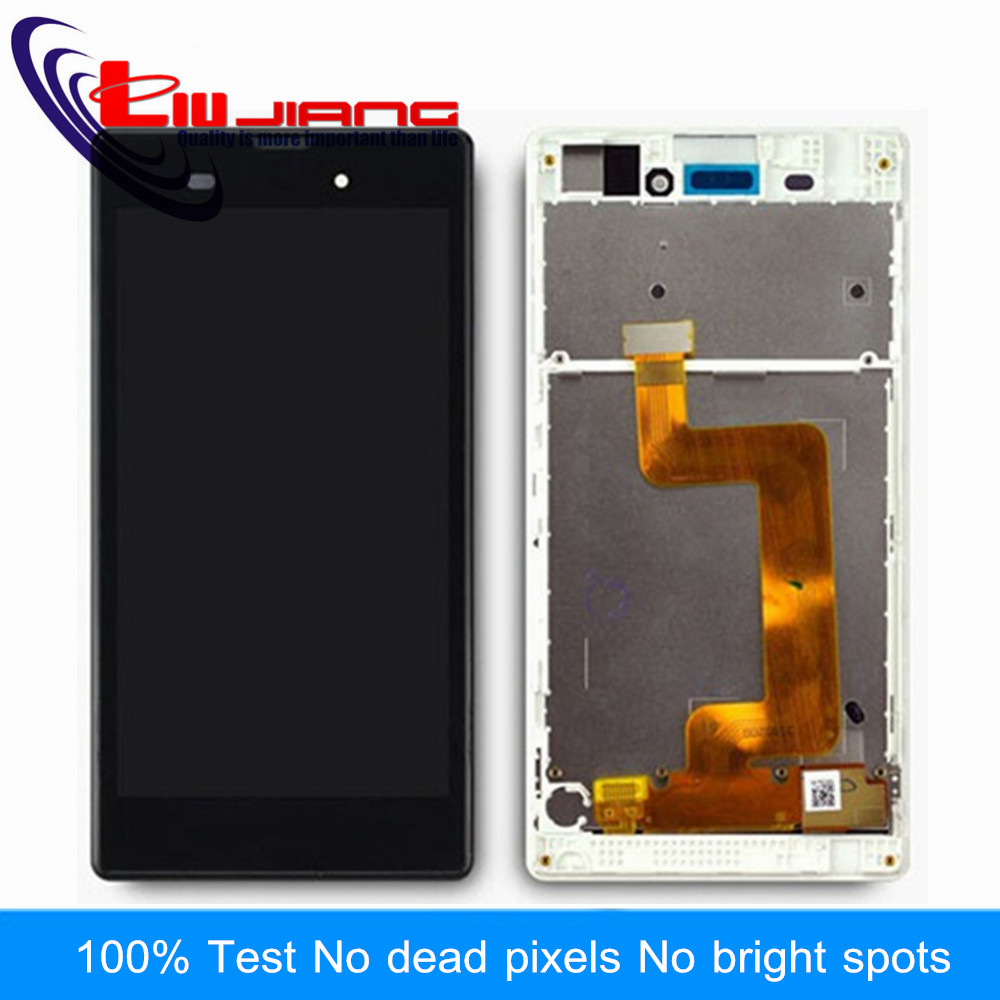 Liujiang Original LCD Display For Sony T3 M50W D5103 D5102 LCD Touch Screen Digitizer with Frame Replacement